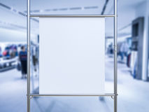 Bout droit blanc de toile sur le tuyau en métal Photos libres de droits