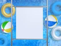 Bout droit blanc de toile sur le tuyau en métal Photo libre de droits