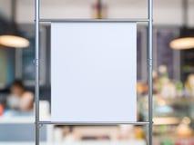 Bout droit blanc de toile sur le tuyau en métal Images libres de droits