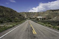 Bout droit droit de route photographie stock