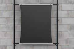 Bout droit noir de toile sur le tuyau en métal Image stock