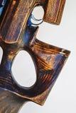 Bout en bois âgé fabriqué à la main d'un fusil photos stock