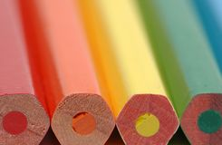 Bout-fin des crayons photographie stock