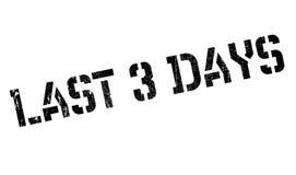 Bout tampon en caoutchouc de 3 jours Photo libre de droits