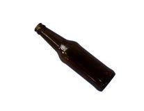 Bouteille à bière brune vide Photographie stock