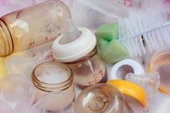 Bouteille à lait de chéri Photographie stock
