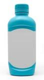 Bouteille antiacide bleue de médecine Images stock