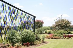 Bouteille Art Display chez Tennessee Agricultural Research Center occidental Image stock