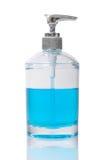Bouteille avec du savon liquide Photographie stock