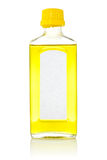 Bouteille avec l'huile de poisson Photo stock