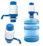 Bouteille avec la pompe à eau Image libre de droits