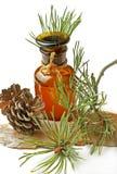 Bouteille avec un baume de fines herbes Images stock