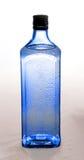 Bouteille bleue avec le genièvre image stock