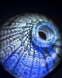 Bouteille bleue décorative Photo libre de droits