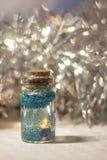 Bouteille décorative bleue Photos stock