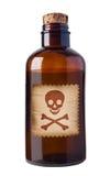 Bouteille démodée de poison Image stock