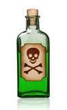 Bouteille démodée de poison avec l'étiquette. Photos stock