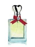 Bouteille d'aquarelle de parfum d'isolement sur le fond blanc Élément peint à la main Pour la conception, le textile et le fond Photographie stock libre de droits