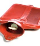 Bouteille d'eau d'un rouge ardent Photographie stock