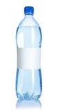 Bouteille d'eau de bicarbonate de soude avec l'étiquette blanc Image stock