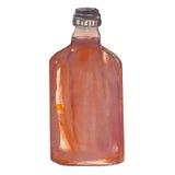 Bouteille d'eau-de-vie fine, whiskey, cognac Photographie stock
