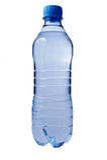 Bouteille d'eau en plastique. Photographie stock libre de droits