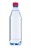 Bouteille d'eau sur le blanc Photos stock