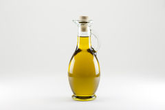 Bouteille d'huile d'olive islated Image stock
