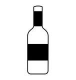 Bouteille d'isolement de vin illustration de vecteur