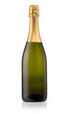 Bouteille de Champagne d'isolement Photographie stock