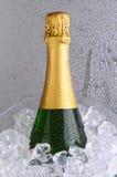 Bouteille de Champagne dans IceBucket Images libres de droits