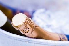 Bouteille de Champagne dans un seau à glace Photo libre de droits