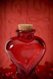 Bouteille de coeur Images libres de droits