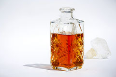 Bouteille de cognac Photos stock