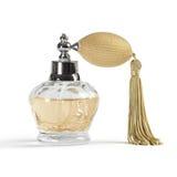 Bouteille de jet de parfum Photographie stock libre de droits