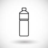Bouteille de ligne mince icône de l'eau de Web illustration libre de droits