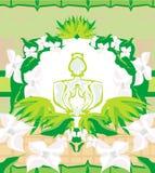 Bouteille de parfum avec un arome floral Images libres de droits