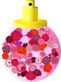 Bouteille de parfum de Pinkn Photographie stock libre de droits