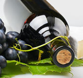 Bouteille de plan rapproché de vin Image libre de droits