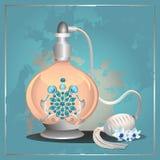 Bouteille de pompe de parfum Image stock