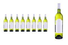 Bouteille de vin avec l'étiquette blanc Photo libre de droits