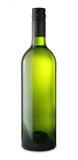 Bouteille de vin blanc avec le chemin - image courante Images libres de droits