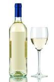 Bouteille de vin blanc et de glace de vin Images libres de droits