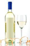 Bouteille de vin blanc et de glace de vin Image stock
