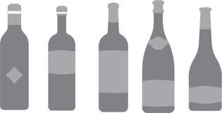 Bouteille de vin, Champage illustration de vecteur