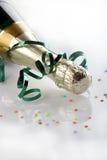Bouteille de vin décorée Photographie stock libre de droits