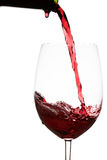 Bouteille de vin de baisse Photographie stock libre de droits