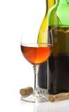 Bouteille de vin et verres à vin Photos libres de droits