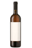 Bouteille de vin rouge avec l'étiquette blanc. Photos libres de droits