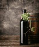 Bouteille de vin rouge dans la cave images libres de droits